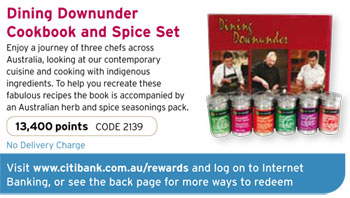 Citibank Rewards offers Dining Downunder Cookbook and Australian Herbs & Spices