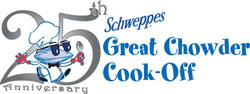 Vic Cherikoff and Benjamin Christie take 2nd prize at Rhode Island Clam Chowder Cook-off